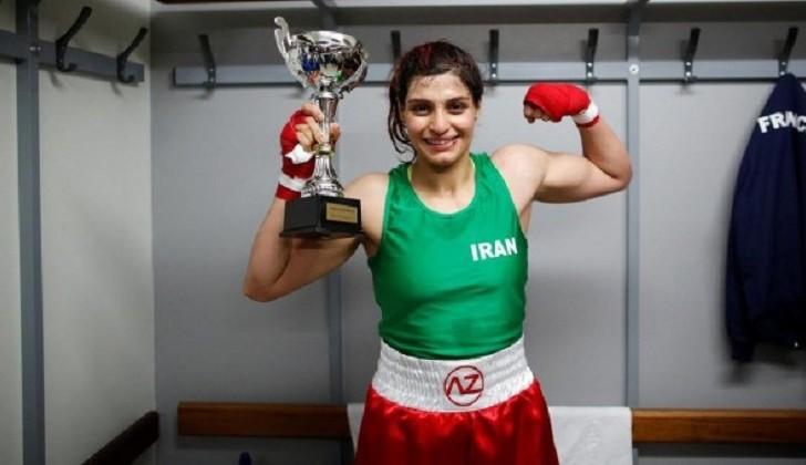 Sadaf Khadem, la boxeadora iraní que hizo historia en Francia .