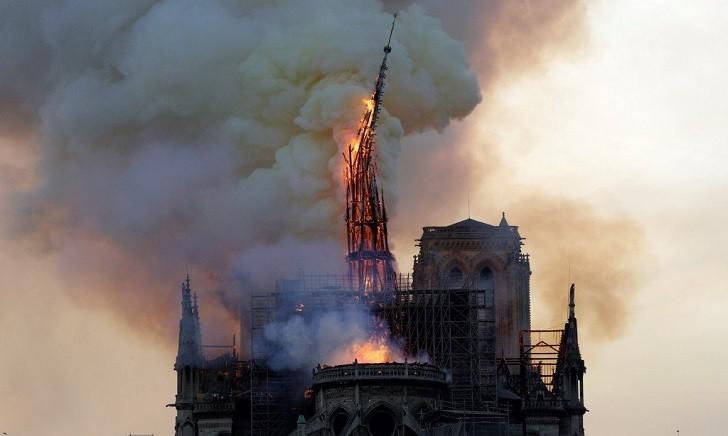 Incendio en la catedral de Notre Dame.
