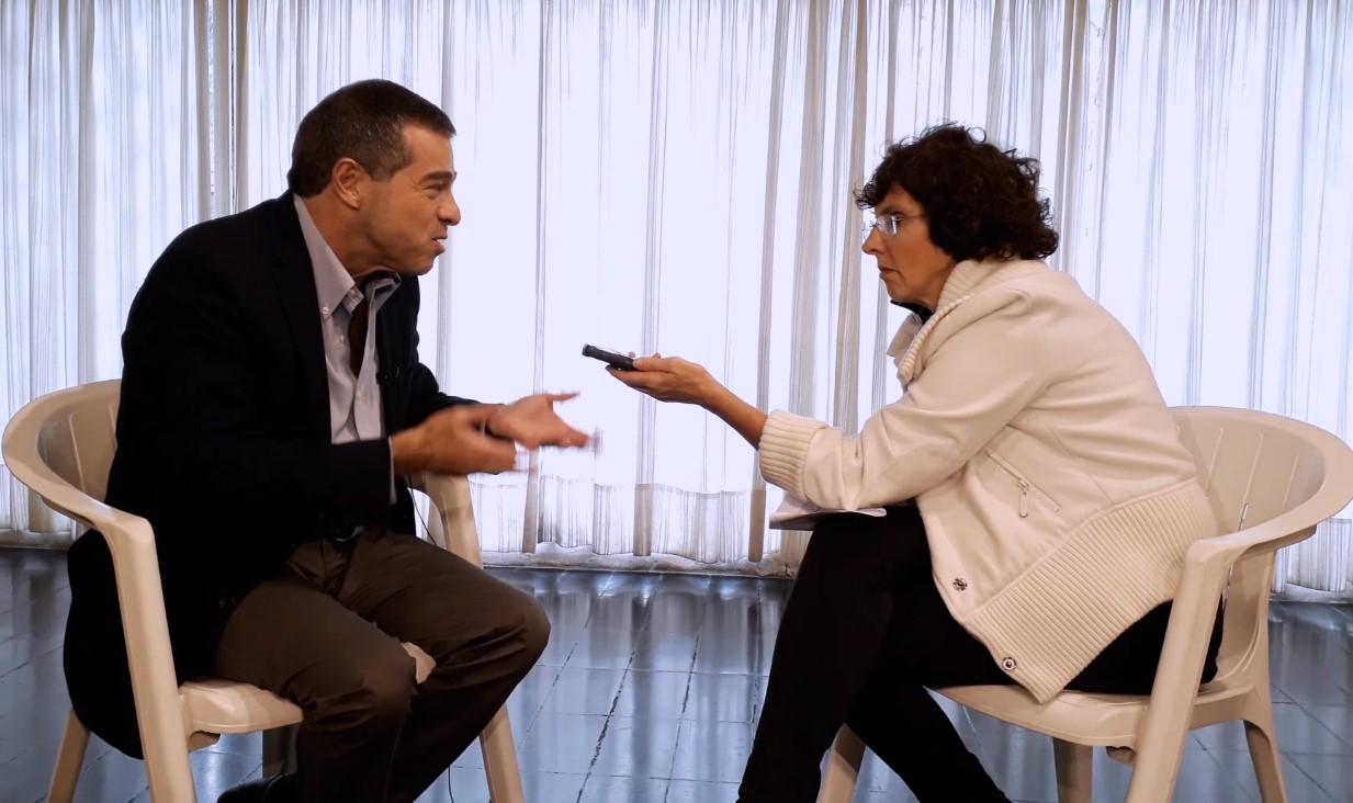 Ana María Mizrahi entrevistando a Ernesto Talvi