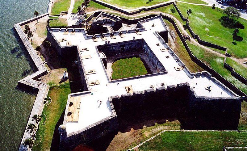 Castillo de San Marcos, San Agustín, Florida. Foto: Wikimedia Commons
