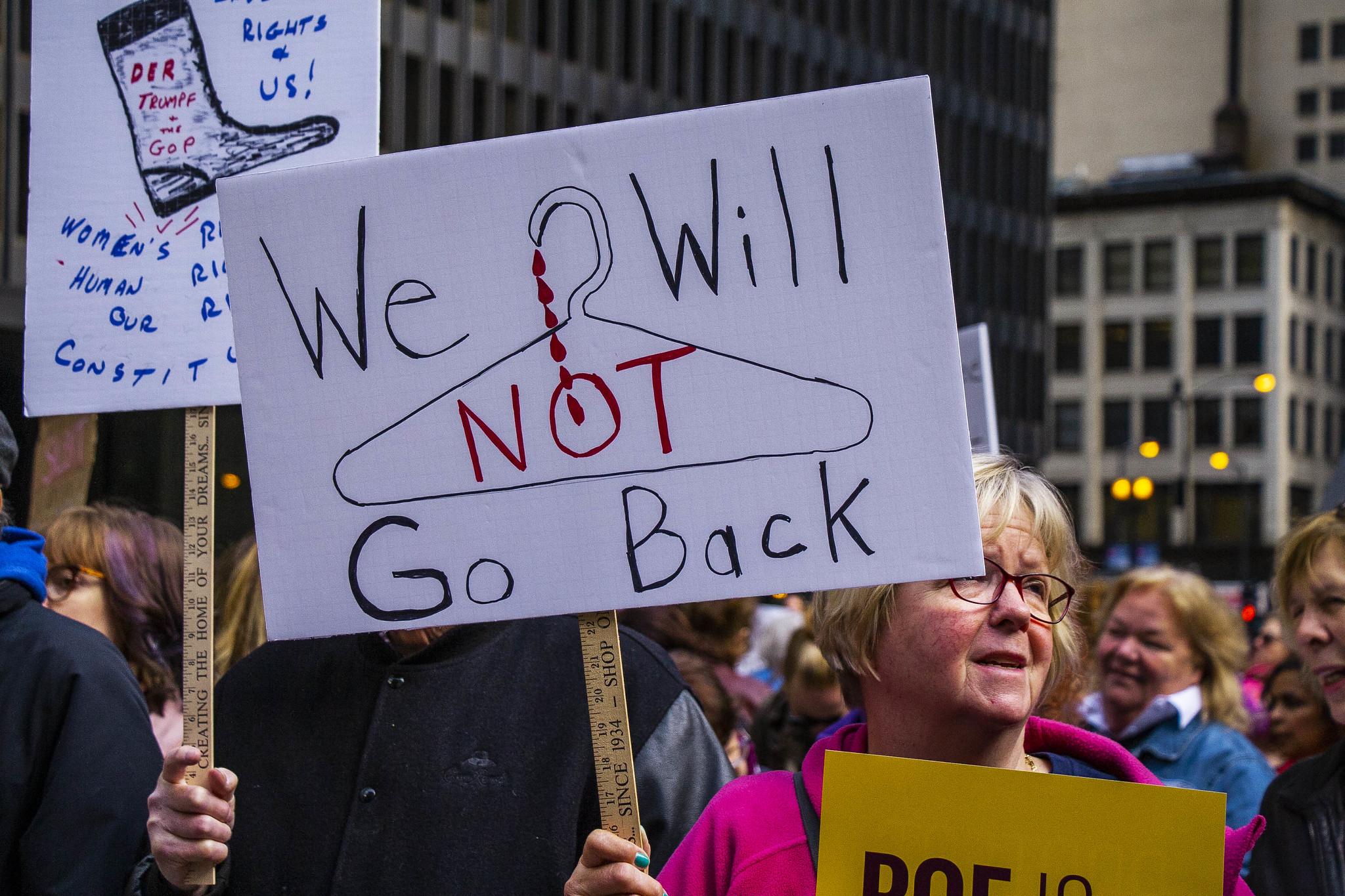 Marcha de las mujeres por los derechos reproductivos, Chicago, Illinois. Mayo de 2019. Foto: Flickr / Charles Edward Miller
