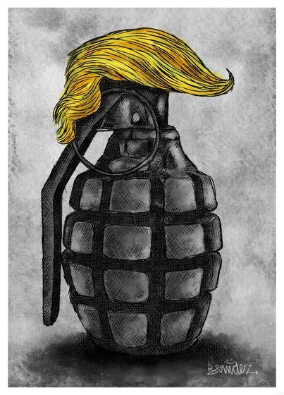 """Mr. Danger Trump"". Caricatura de Ricardo Bermúdez"