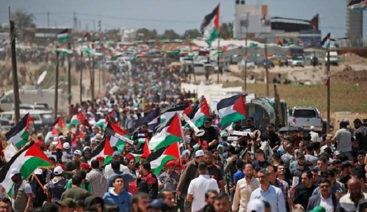Miles de palestinos se marcharon en Cisjordania y Gaza por el Día de la Nakba