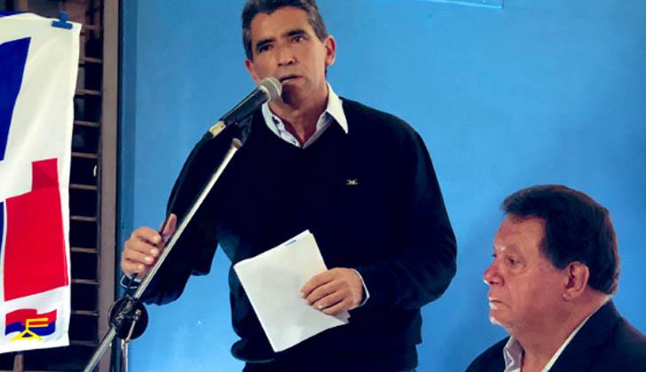 Raúl Sendic junto a Saúl Aristimuño.