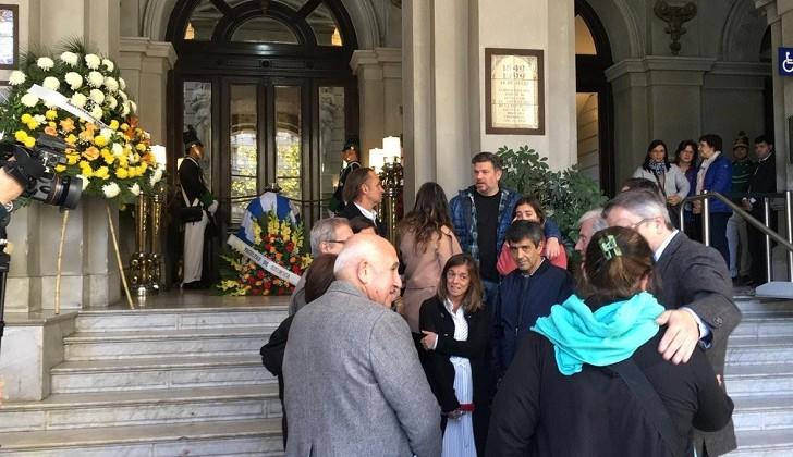 Tabaré Vázquez despidió los restos de Brovetto en la Universidad de la República