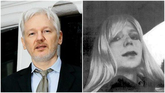 chelsea manning - julian assange