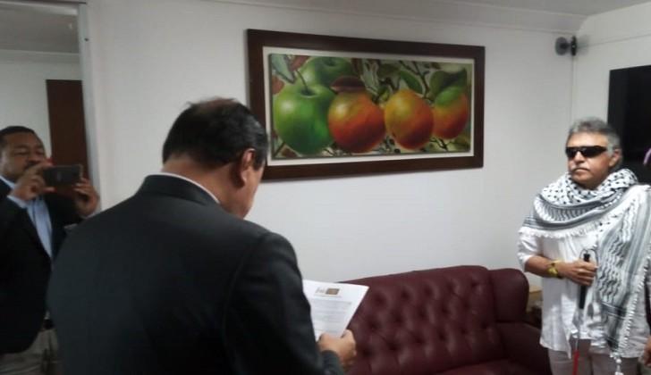 El exjefe de las FARC Jesús Santrich tomó posesión  de su banca en el Congreso colombiano
