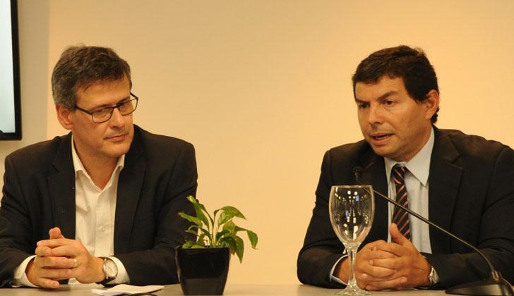 Fiscal general de la Nación, Jorge Díaz, junto al director de INEFOP, Eduardo Pereyra.