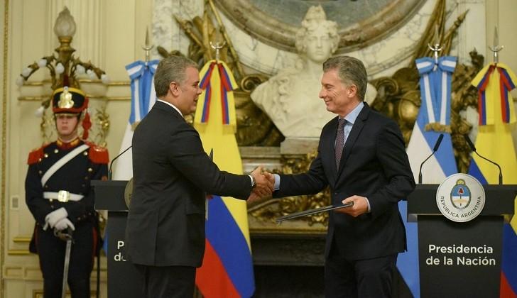 """Para Duque la reelección de Macri """"es algo fundamental para América Latina"""""""