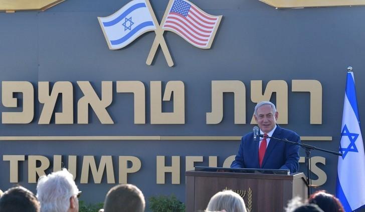 """Netanyahu inaugura los """"Altos de Trump"""", un asentamiento en los Altos del Golán sirios"""