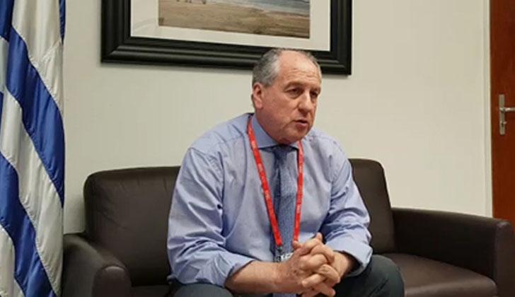 Ministro de Trabajo y Seguridad Social, Ernesto Murro en Ginebra, Suiza.