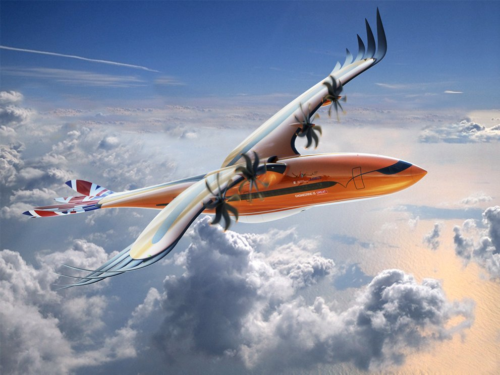 Airbus-Bird-of-Prey-concept-plane