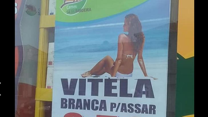 Retiran la publicidad de una carnicería en Portugal por su contenido sexista