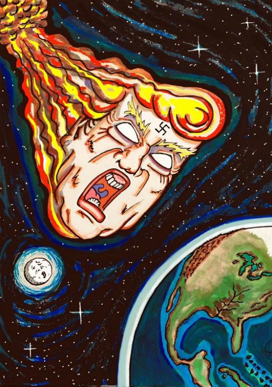 Un dibujo hecho por el actor y dibujante Jim Carrey