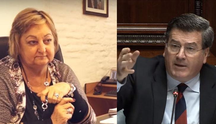 La ministra de Turismo, Liliam Kechichian, cuestionó al senador colorado Pedro Bordaberry.
