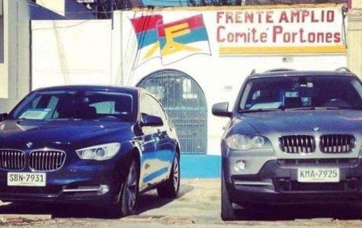 autos bmw frente amplio portones