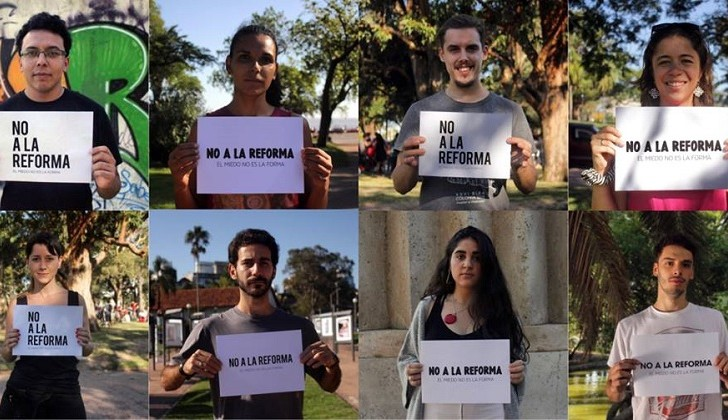 """""""Votes lo que votes, en octubre no pongas la papeleta"""". Foto: Facebook No a la Reforma"""