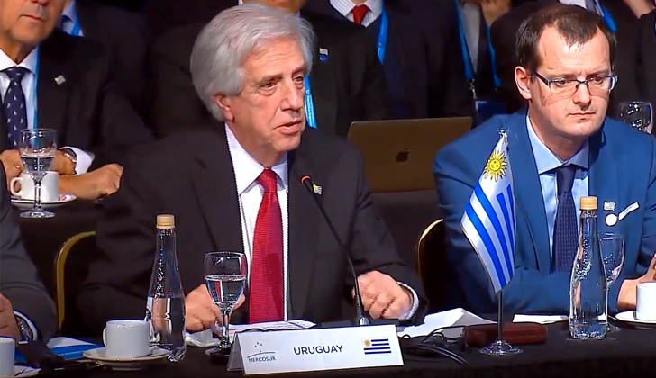 Tabaré Vázquez durante la Cumbre del MERCOSUR.