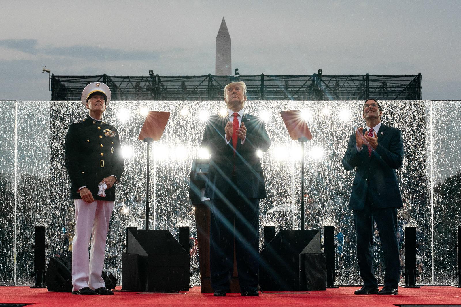 Trump celebrando el 4 de julio en Washington. Foto: The White House / Flickr