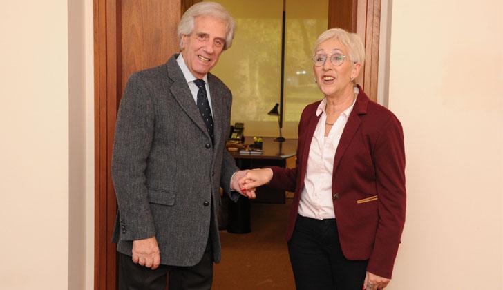 Tabaré Vázquez recibió a Graciela Villar. Foto: Presidencia.
