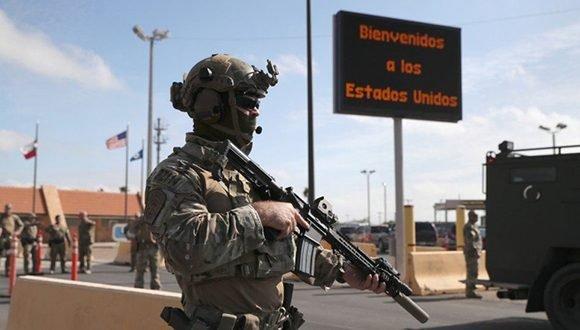Más de cinco mil soldados refuerzan la frontera sur de los Estados Unidos. Foto cortesía de la BBC
