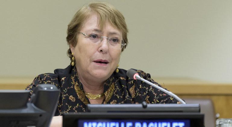 Michelle Bachelet. Foto: ONU / Manuel Elías
