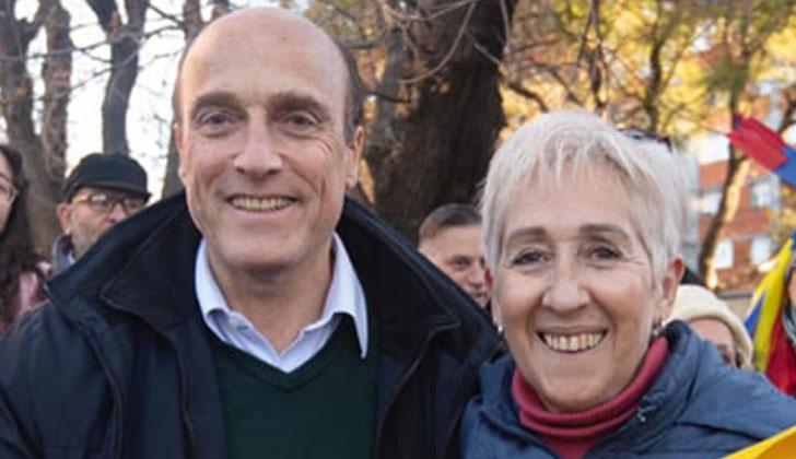 Martínez y Villar recorren Montevideo. Foto: Twitter.