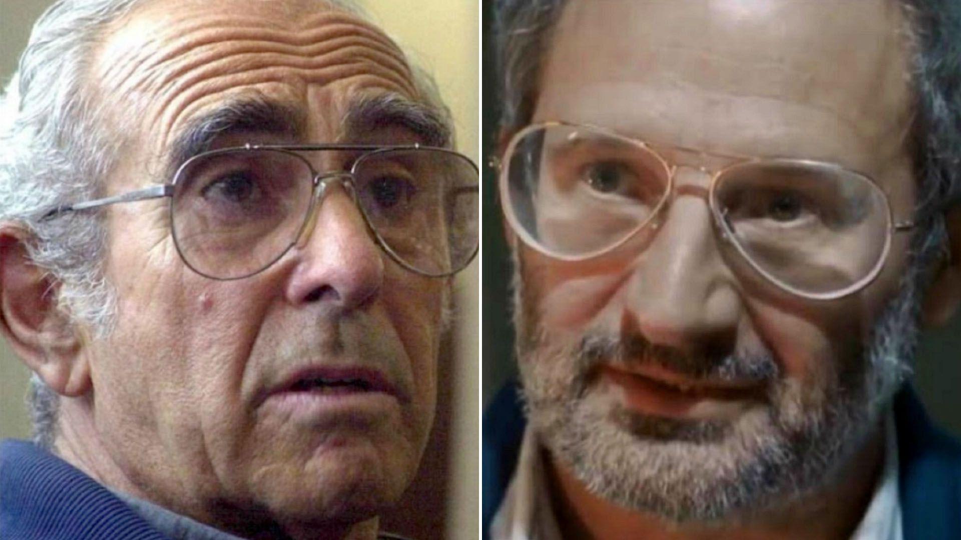 """A la izquierda Ricardo Barreda. A la derecha David Masajnik, el actor que personifica a """"Tubito""""en El Marginal."""