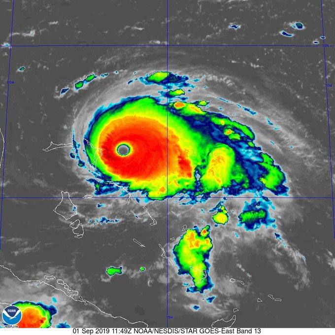 El huracán más fuerte en registros modernos para las Bahamas — Dorian