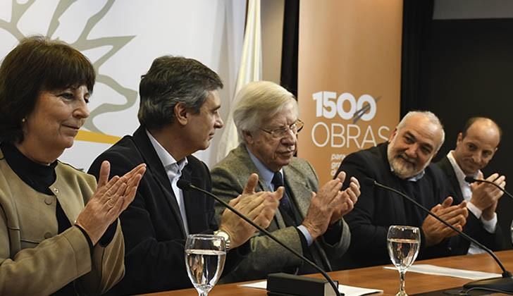 Marisa Lindner (INAU), Álvaro García (OPP), Danilo Astori (MEF) y Wilson Netto (ANEP). Foto: ANEP.