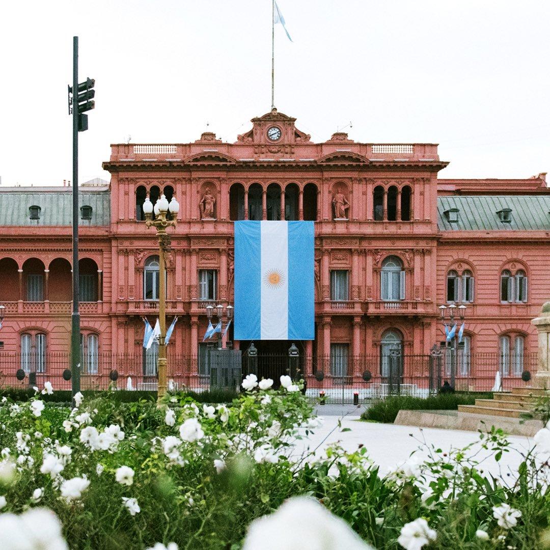 Casa Rosada en Buenos Aires, sede del Poder Ejecutivo. Foto: Twitter/ Casa Rosada