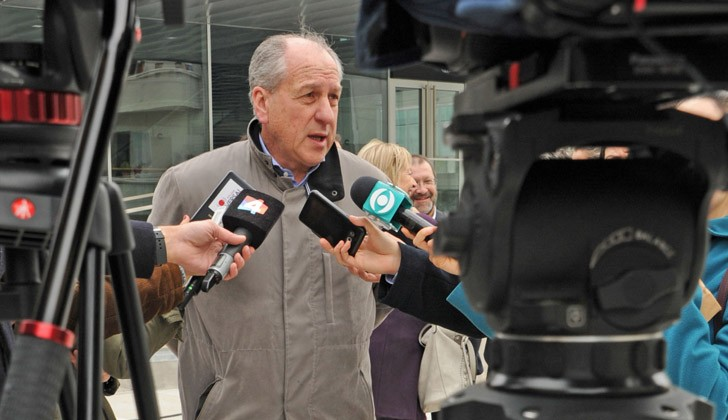 Ernesto Murro, en el marco de la filmación de Conquest. Foto: Presidencia de la República.