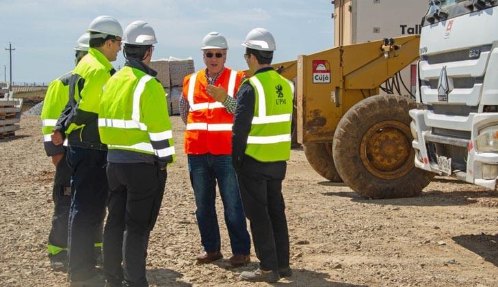 El ministro Murro recorrió obras para UMP II. Foto: Presidencia de la República.