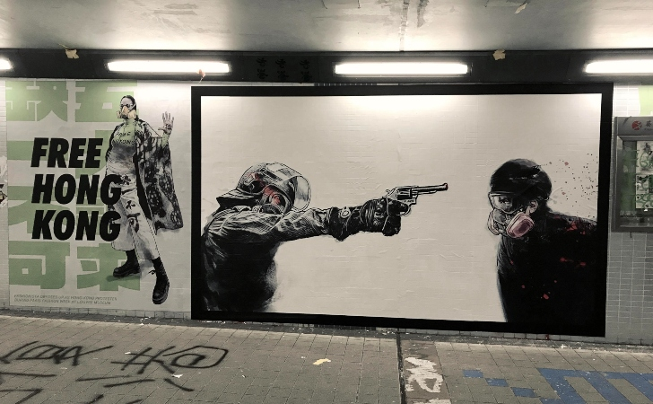 Mural en Hong Kong en apoyo a los grupos prodemocracia / Crédito: Childeabaddon