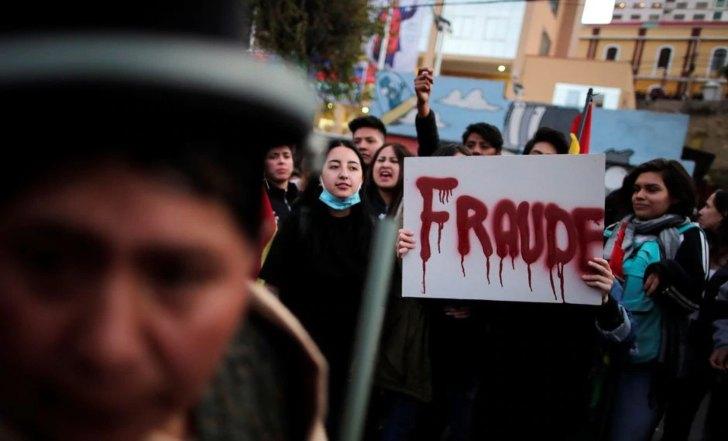 Manifestación contra Evo