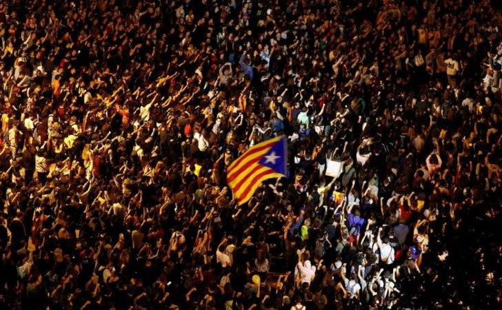 Manifestación separatista en Cataluña / Foto: Reuters