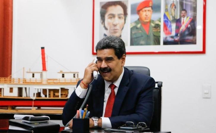 El presidente Nicolás Maduro en conversación telefónica con Diosdado Cabello / Foto: Nicolás Maduro