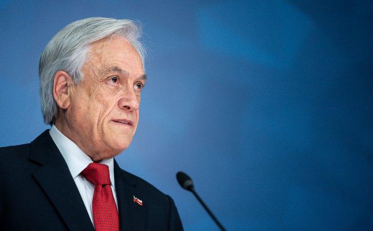 Piñera brindando su declaración sobre el Estado de Emergencia / Foto: Presidencia Chile