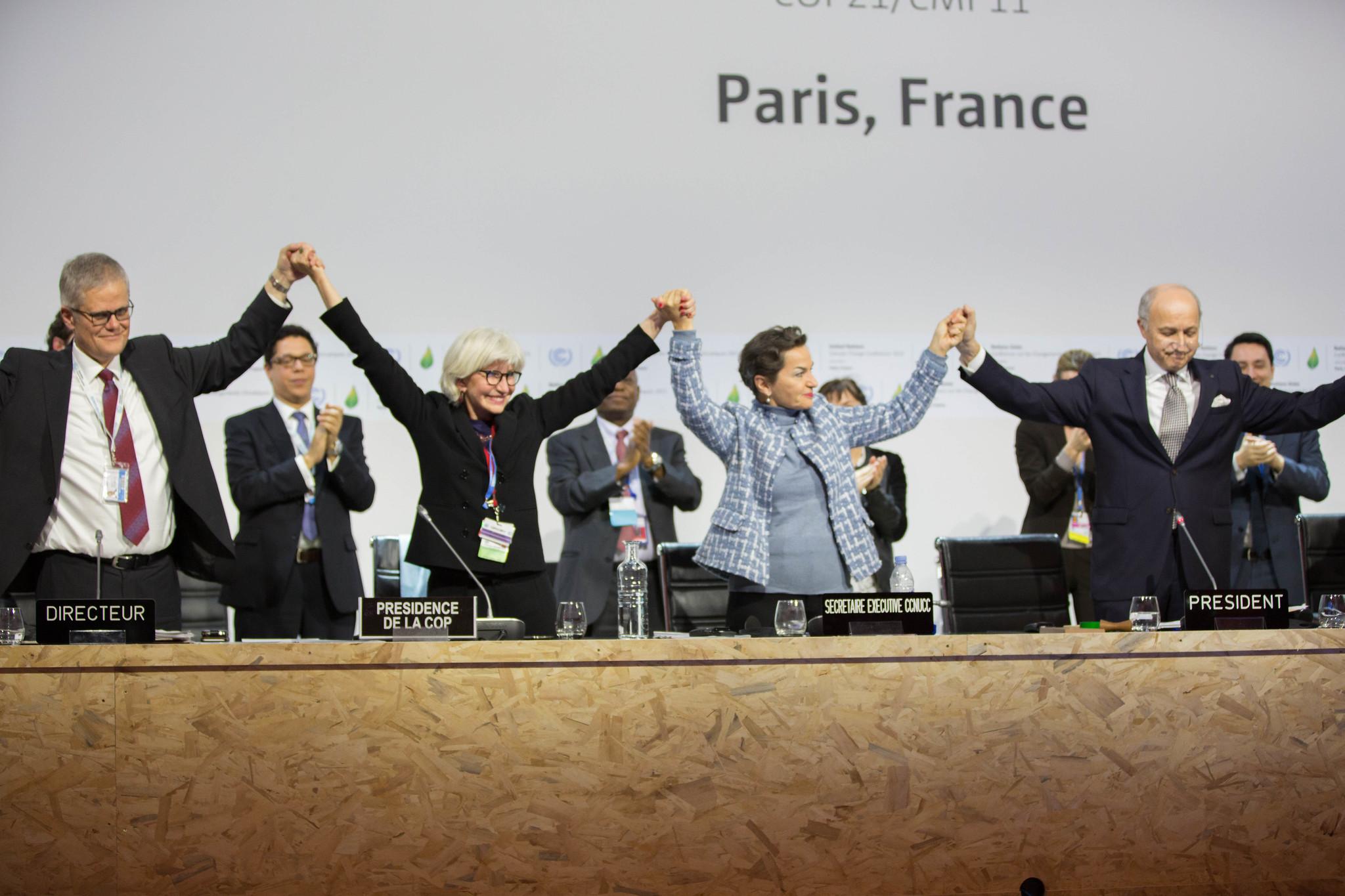 Momento de la firma del Acuerdo de París, en 2015. Foto: Flickr / ONU Climate Change