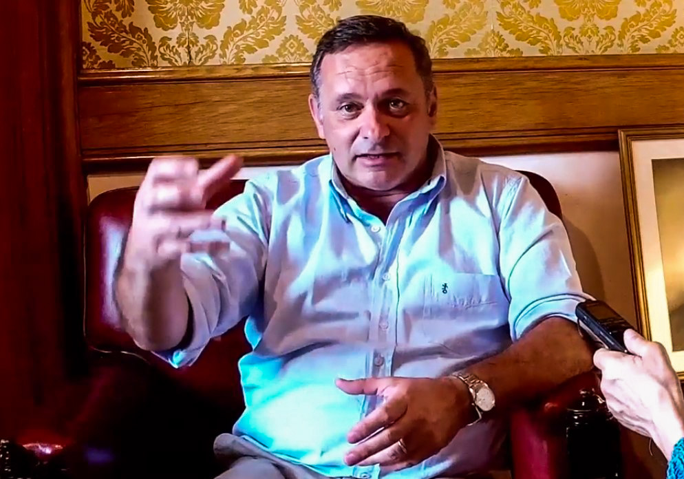 Álvaro Delgado, senador electo por el Partido Nacional. Foto: Carlos Loría