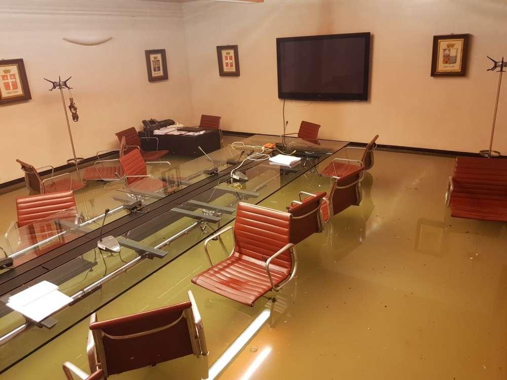 Inundaciones en otra habitación del Palazzo Ferro Fini en Venecia. Cortesía de Roberto Ciambetti