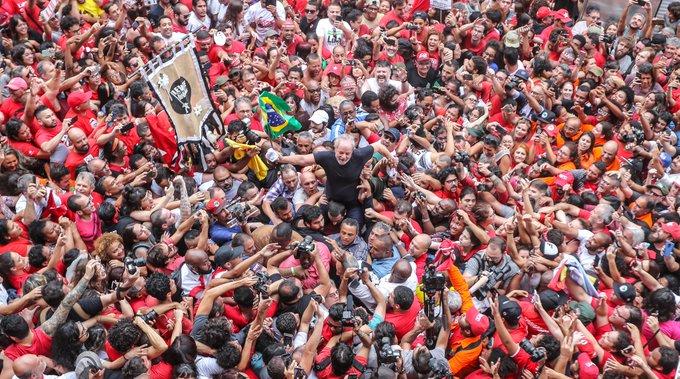 Lula visitando São Bernardo do Campo,  a las afueras de São Paulo. Foto: Ricardo Stuckert