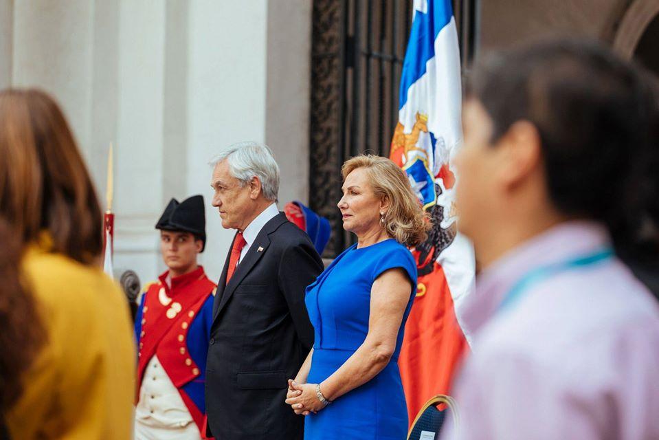Sebastián Piñera junto a su esposa, la primera dama Cecilia Morel. Foto: Gobierno de Chile