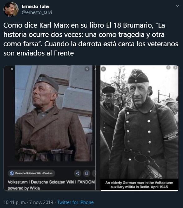 talvi twitter nazismo mujica astori martinez