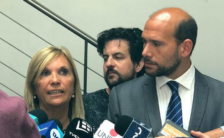 Beatriz Argimón junto a Martín Lema / Foto: Leonardo Silvera