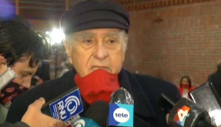 El ex presidente de la República y actual secretario general del Partido Colorado, Julio María Sanguinett.