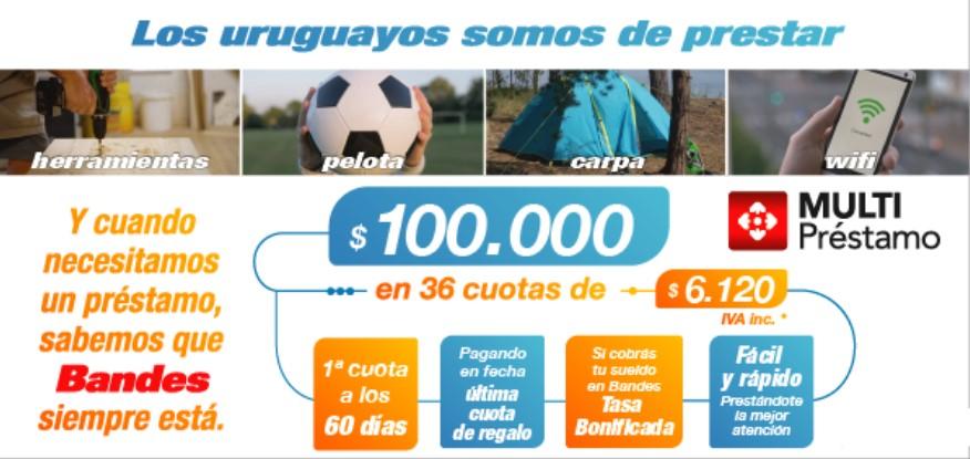 Los uruguayos contamos con las múltiples ventajas de Multipréstamo de Bandes