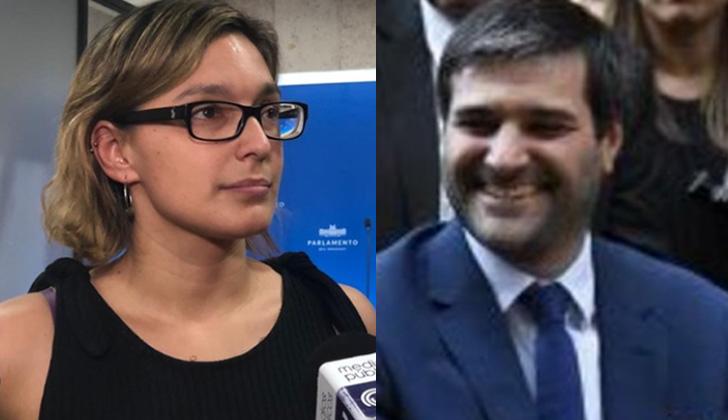 Cruce entre la diputada del Frente Amplio Micaela Melgar y el director General de Secretaria del Ministerio de Desarrollo Social, Nicolás Martinelli.